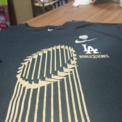 255 アメリカフェア ドジャーズチャンピオンTシャツ